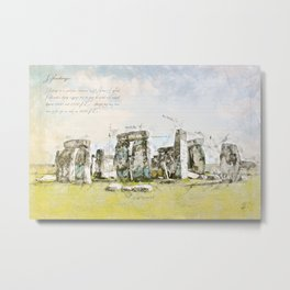 Stonehenge, England Metal Print