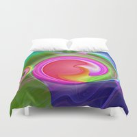 "agate Duvet Covers featuring "" Agate ""  by shiva camille"