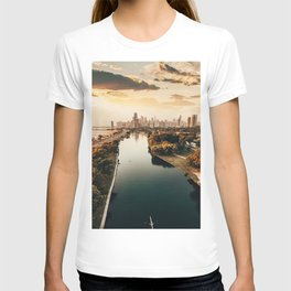 Chicago view from a drone T-shirt
