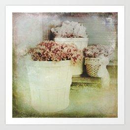 Vintage Street Flowers Art Print