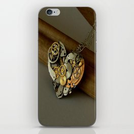 Steampunk Heart of Gold and Silver iPhone Skin