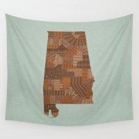 alabama Wall Tapestries featuring Alabama by MattBlanksArt