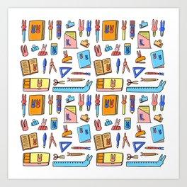 Bunny Stationery Love Art Print