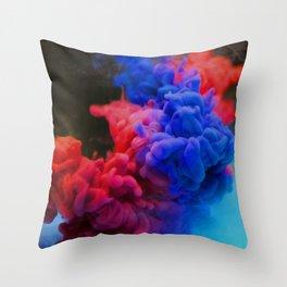 Colorful Smoke Screen Throw Pillow