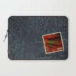 Grunge sticker of Albania flag Laptop Sleeve