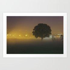Tree in the Fog Art Print
