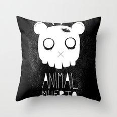 Animal Muerto Throw Pillow