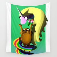 jake Wall Tapestries featuring Jake & Lady by Joshua M. Rhodes III
