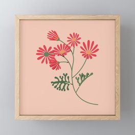 Colourful Plant - Red Flowers Framed Mini Art Print