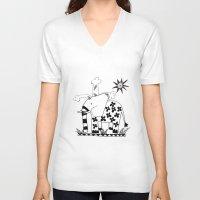 ellie goulding V-neck T-shirts featuring Ellie by Wee Jock