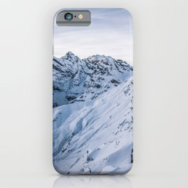 Mountains covers by snow iPhone Case