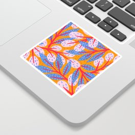 Golden sky in the forest Sticker