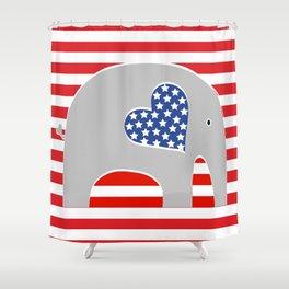 American Elephant Shower Curtain