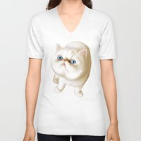 kirby V-neck T-shirts featuring Kirby Littledumdums by EggsBFF