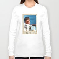 jfk Long Sleeve T-shirts featuring JFK Boat by Sport_Designs