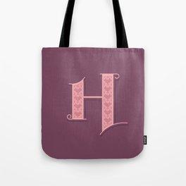 Alphabet Drop Caps Series- H Tote Bag