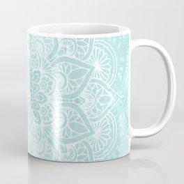 Boho Mandala Love Flower of Life, Pastel Teal Blue Coffee Mug