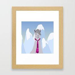 Lama Hipster Design Framed Art Print
