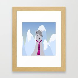 Lama Hipster Design Framed Art Print