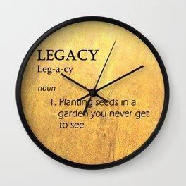 Hamilton: Legacy Wall Clock