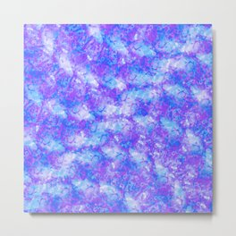 Purple, Blue and White; Fluid Abstract 54 Metal Print
