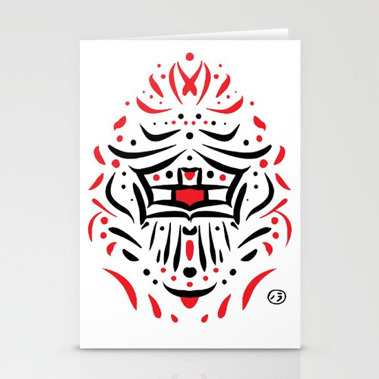 Temple of faces Stationery Cards