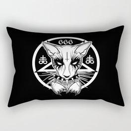 Black Metal Cat Rectangular Pillow