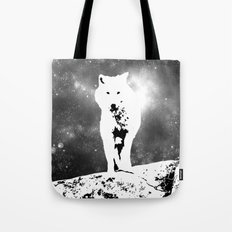 Walking on the moon Wolf Tote Bag