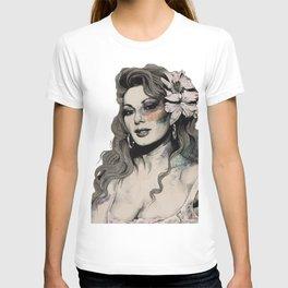 Edwige (street art sexy portrait of Edwige Fenech) T-shirt