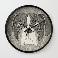 boxer Wall Clocks featuring Boxer by Sosarora