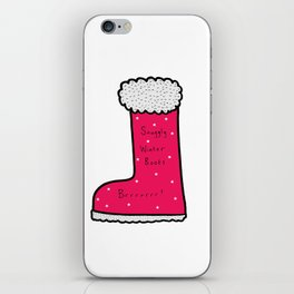 Snuggly Winter Boots iPhone Skin