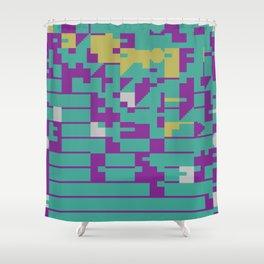 Abstract 8 Bit Art Shower Curtain