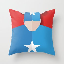 Capitão America Throw Pillow