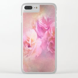 Baroque Painted Roses Clear iPhone Case