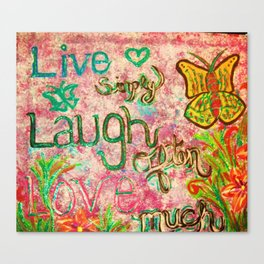 live laugh love 2 Canvas Print
