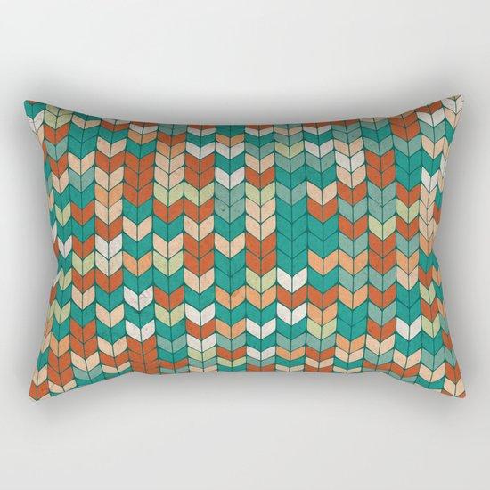 Knitted colors Rectangular Pillow
