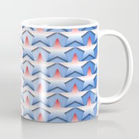 america Mugs featuring America by Lyle Hatch