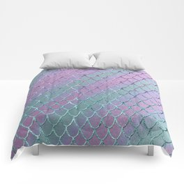 Mermaid Princess Glitter Scales Glam #1 #shiny #stripes #decor #art #society6 Comforters