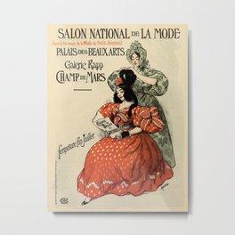 1896 National Fashion salon Paris Metal Print