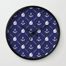 Retro Nautical Print Wall Clock