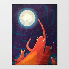 :::Touch the Moon::: Canvas Print
