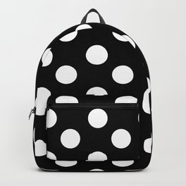 Polka Dot (White & Black Pattern) Backpack