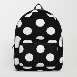 Polka Dot (White & Black Pattern) Backpack