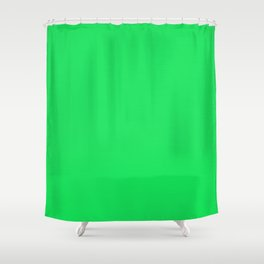 Acid Green Streaky Hand Painted Watercolor Shower Curtain
