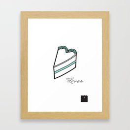Cake lover Framed Art Print