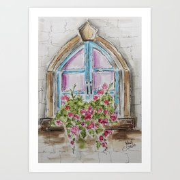 Regal Window Art Print