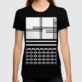 Matchy Stripes 2 Black and White Pattern T-shirt