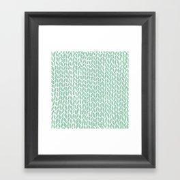 Hand Knit Zoom Mint Framed Art Print