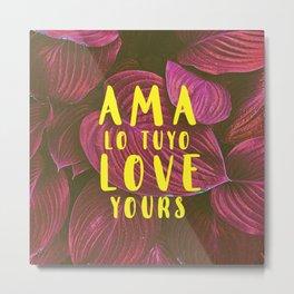 AMA/LOVE 001 Metal Print
