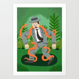 Man with Snakes Art Print